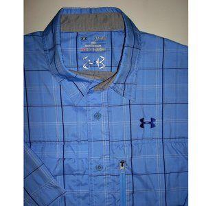 UNDER ARMOUR Blue Check Button-Up Shirt